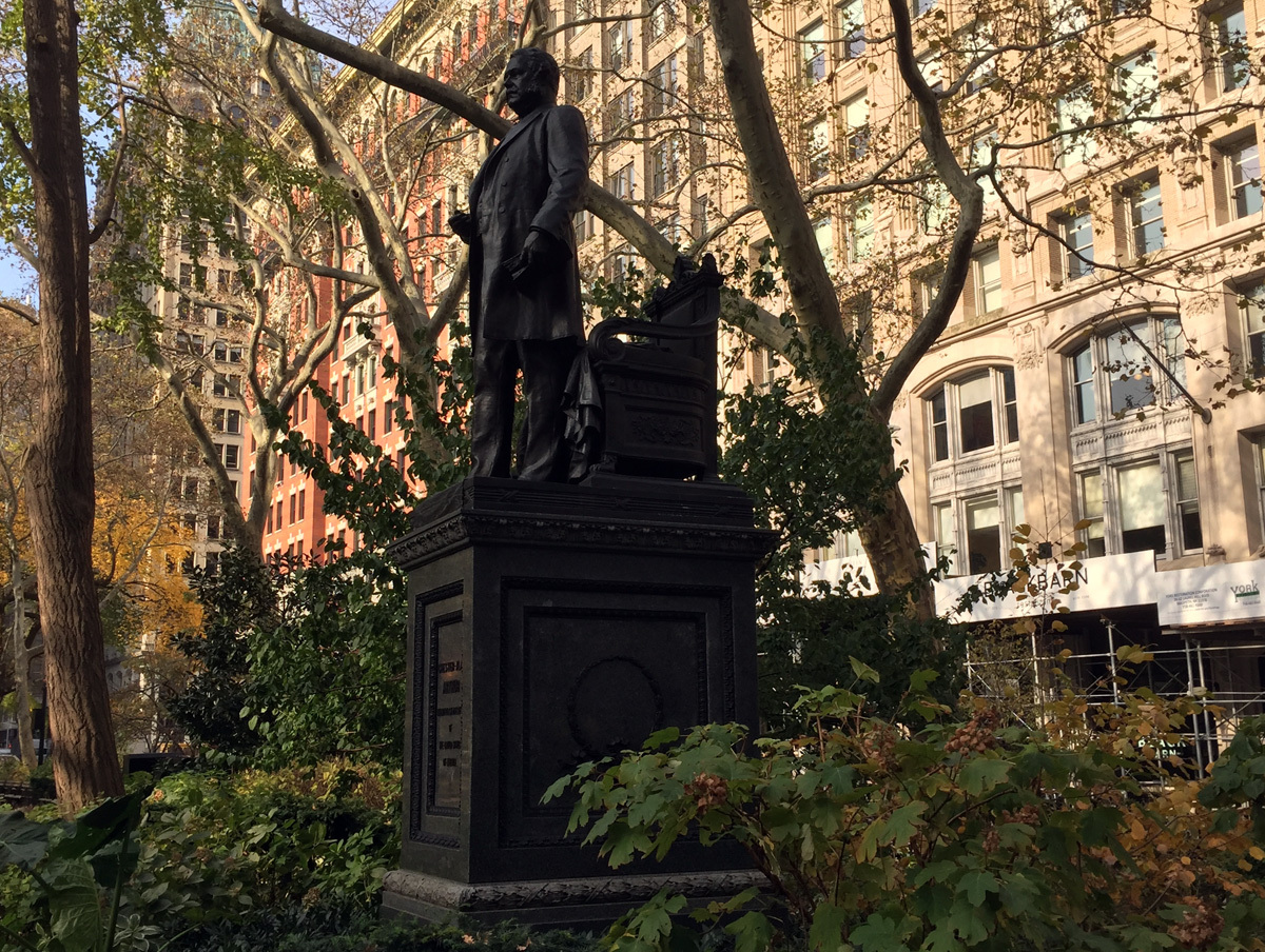 statue of Chester A Arthur in Madison Square Park