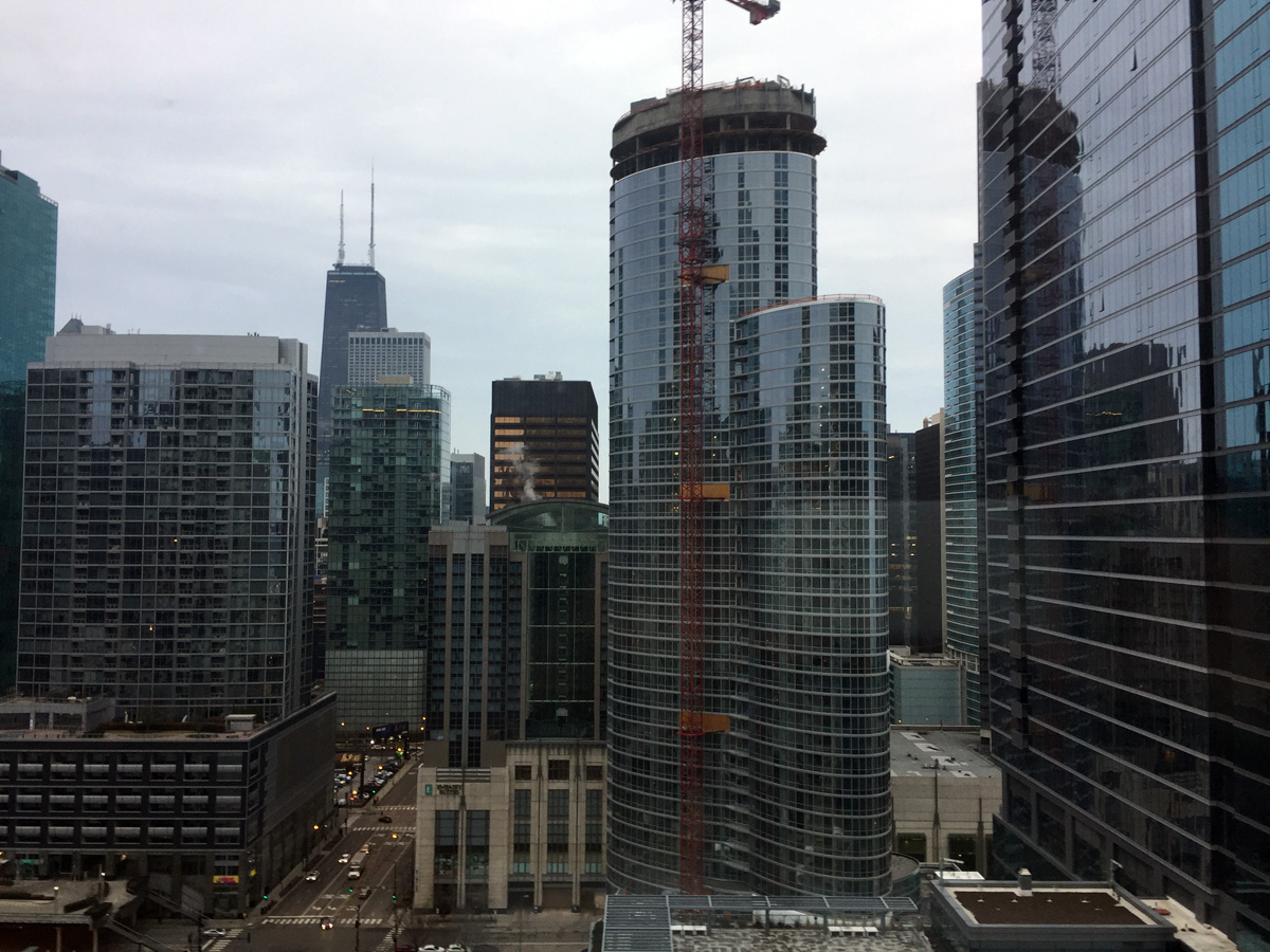 View from Sheraton Grand in Chicago