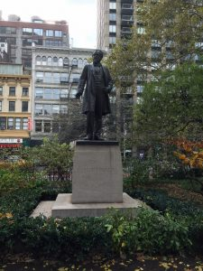 statue of Roscoe Conkling in Madison Square Park