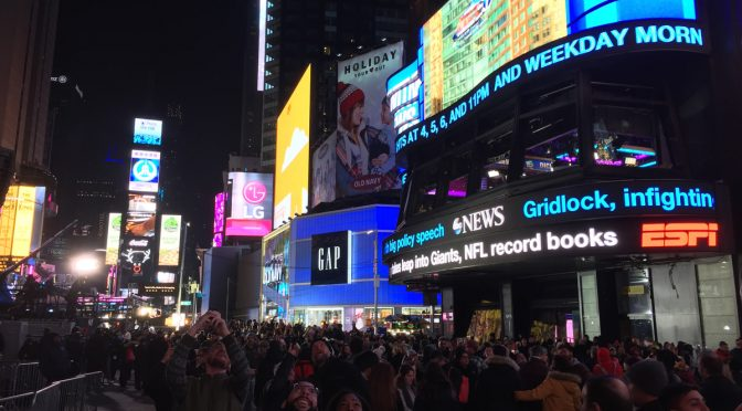 New Year's Eve Eve in Times Square
