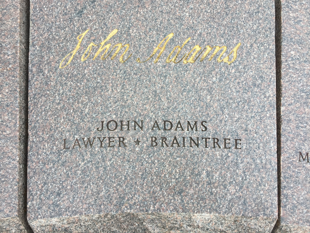 John Adams signature in Washington DC