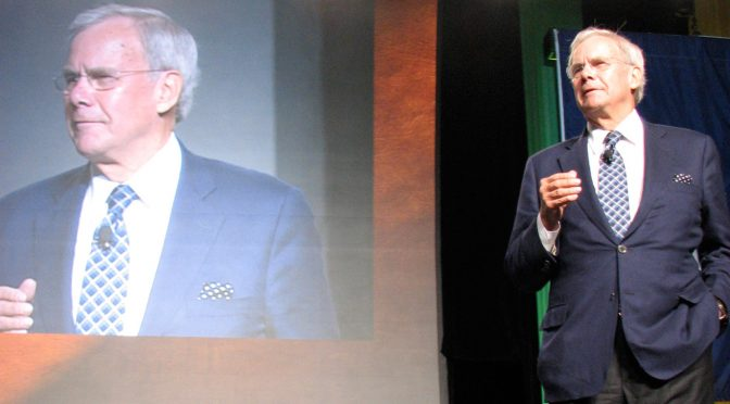 Tom Brokaw offers a speech at the American Dental Association Annual Session