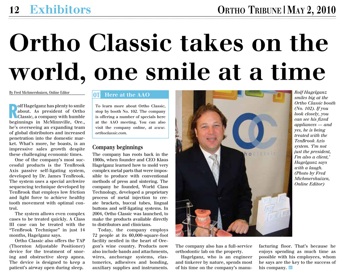 Fred Michmershuizen Ortho Tribune